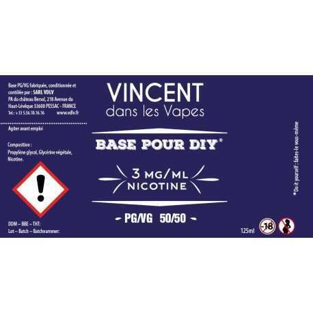 Base 50%PG / 50%VG 120ml Supervape (0 mg/ml)