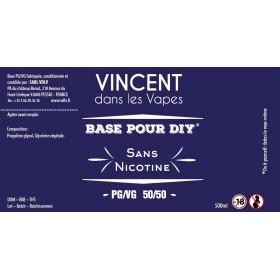 Base 50%PG / 50%VG 500ml Vincent dans les vapes