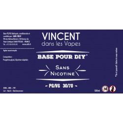 Base 30%PG / 70%VG 500ml Vincent dans les vapes