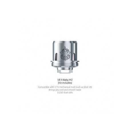 Résistances TFV8 X Baby-M2 (0.25) Smok