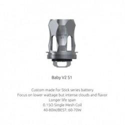Résistances TFV8 Baby V2 S1 (0.15) Smok